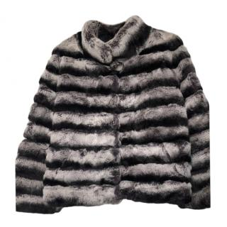 Bespoke Chinchilla Fur Natural Grey Jacket
