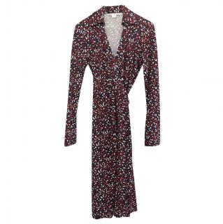 DVF Printed Jeanne Two Wrap Dress