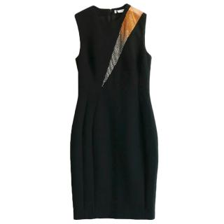 Versace Collection Embellished Fitted Sleeveless Dress