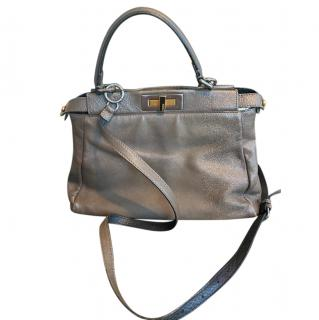 Fendi Medium Taupe Leather Peekabo Bag