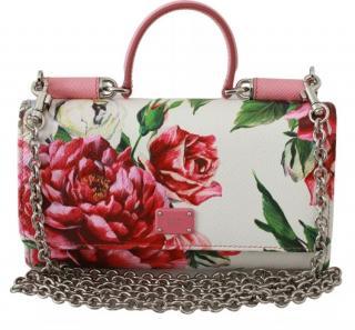 Dolce & Gabbana Peony Print Sicily Von Mini Bag