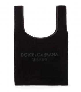 Dolce & Gabbana Black Velvet Market Tote