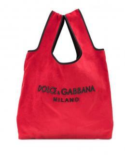 Dolce & Gabbana Red Velvet Market Tote