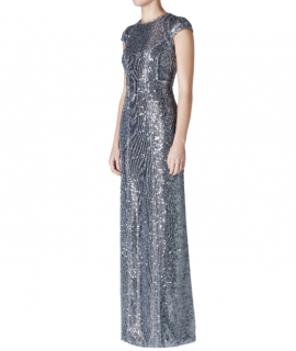 Galvan Estrella Sequin Cap Sleeve Dress