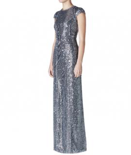 Galvan Estrella Sequin Cap Sleeve Dress