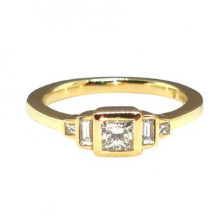Cred 18ct Yellow Gold Ethical Diamond Ring