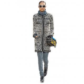 Chanel Supermarket Collection Tweed Longline Coat
