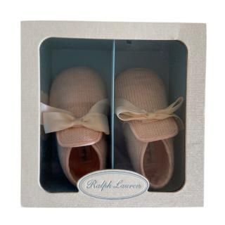 Ralph Lauren Pale Pink Addison Slippers