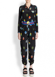 Stella McCartney Superhero-Print Harem Pants