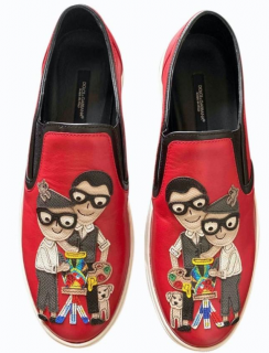 Dolce & Gabbana DGFamily Applique Slip-On Sneakers