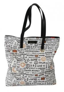 Dolce & Gabbana Graffiti Print Tote Bag