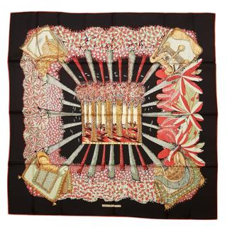 Hermes Ombres et Lumieres Silk Scarf 90