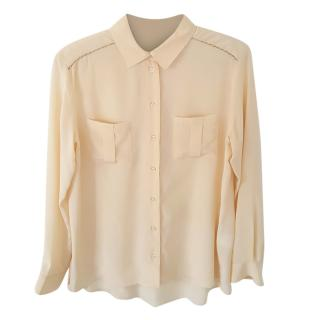 Pablo De Gerard Darel Apricot Silk Blouse