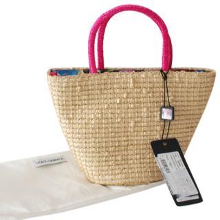 Dolce & Gabbana Raffia Beach Bag