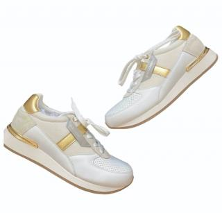 Dolce & Gabbana White/Gold Portofino Sneakers