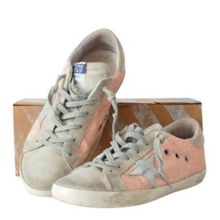 Golden Goose Superstar Distressed Glitter Sneakers