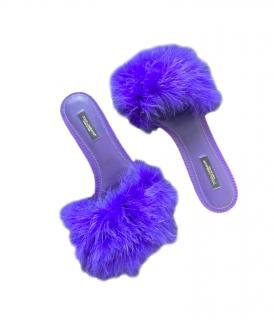Dolce & Gabbana Iguana Embossed Feather Slides