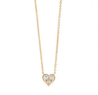 Tiffany & co. Hearts Pendant in 18k gold w/ round brilliant diamonds