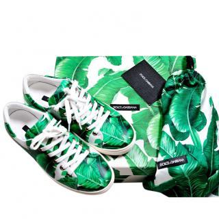 Dolce & Gabbana Banana Leaf Print Sneakers