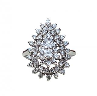 Bespoke 14ct White Gold Diamond Cluster Ring