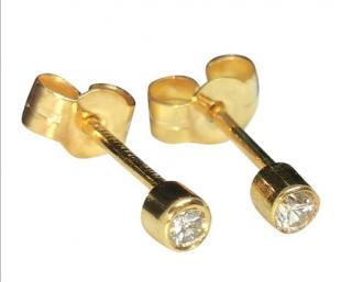 Bespoke 18ct Yellow Gold Diamond Studs