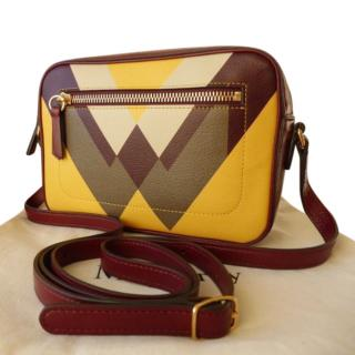 Mulberry Geometric Print Messenger Bag