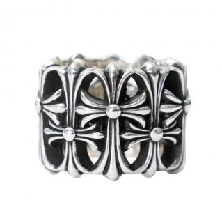 Chrome Hearts Silver Tone Cemetery Ring
