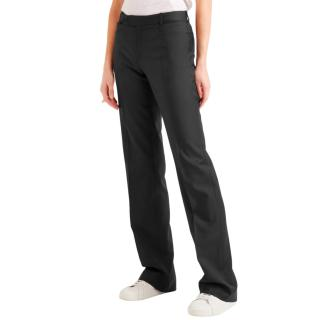 Joseph Black Rocker Wide Leg Wool Pants