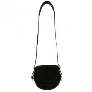 Rag & Bone Black Grained Leather Shoulder Bag