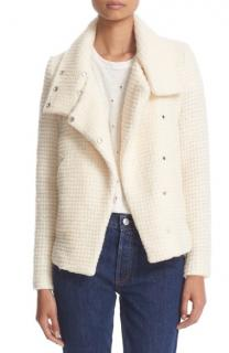 Iro Ivory Mohair & Wool Blend Textured Sonay Jacket