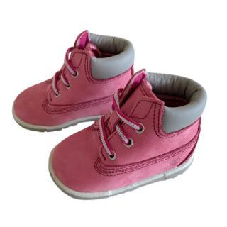 Timberland Pink Crib Booties