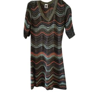 M Missoni Lurex Wavy Knit Dress