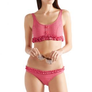 Lisa Marie Fernandez Colby ruffled seersucker bikini