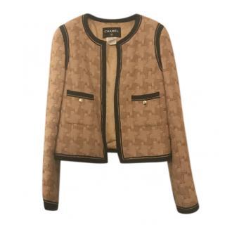 Chanel Camel Woven Tweed Jacket