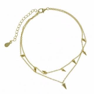 Salvatore Plata Gold Plated Spiked Anklet