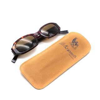 E. B. Meyrowitz Brown Tortoiseshell Handmade Rectangular Sunglasses