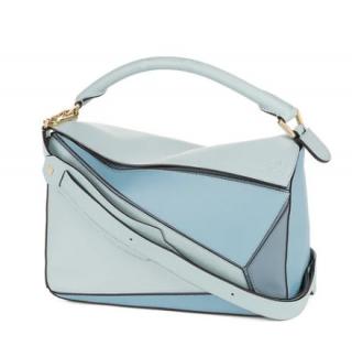 Loewe Blue Medium Leather Puzzle Bag