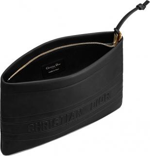 Dior Black Leather OIblique Pouch