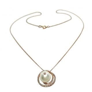 Bespoke Victoria London Pearl & Diamond Necklace