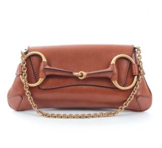Gucci by Tom Ford Brown Leather Horsebit Shoulder Bag