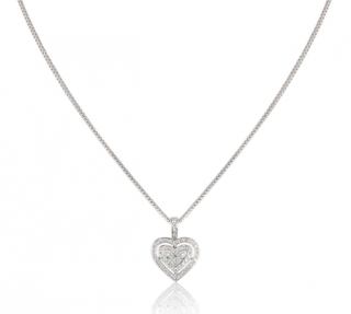 Theo Fennell Triple Diamond Heart Pendant Necklace