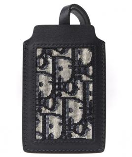 Dior Blue Oblique Canvas & Leather Luggage Tag