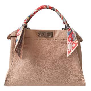 Fendi Nude Grained Leather Medium Peekaboo Bag