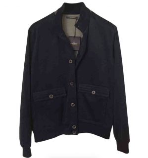Crombie Navy Blue Cashmere Jacket