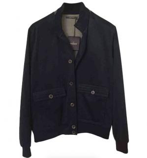 Crombie Navy Blue Cashmere Jacket