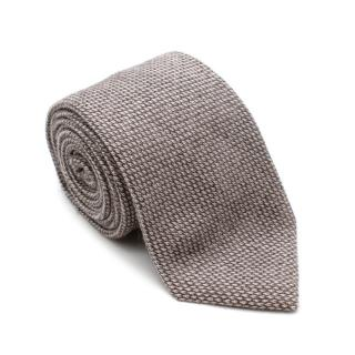 Marzullo Brown Silk & Cashmere Tie
