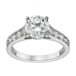 Cartier Diamond Solitaire 1895 Platinum Ring