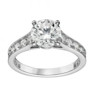 Cartier Diamond Solitaire 1895 Platinum Ring