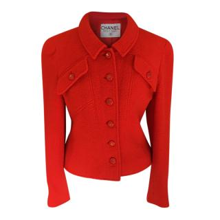 Chanel Red Tailored Short Jacket