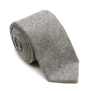 Personality for Gemelli Grey Cashmere Handmade Tie